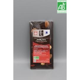Tablette Chocolat Noir 72% Mendiants