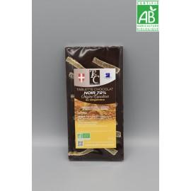 Tablette Chocolat Noir 72% Gingembre