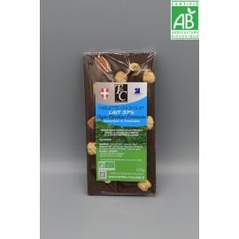 Tablette Chocolat lait 37% Noisettes Amandes