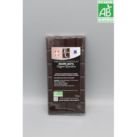 Tablette Chocolat Noir 80%